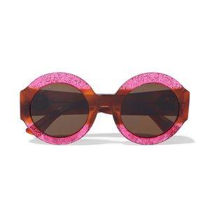 Gucci Round frame Glittered Sunglasses!